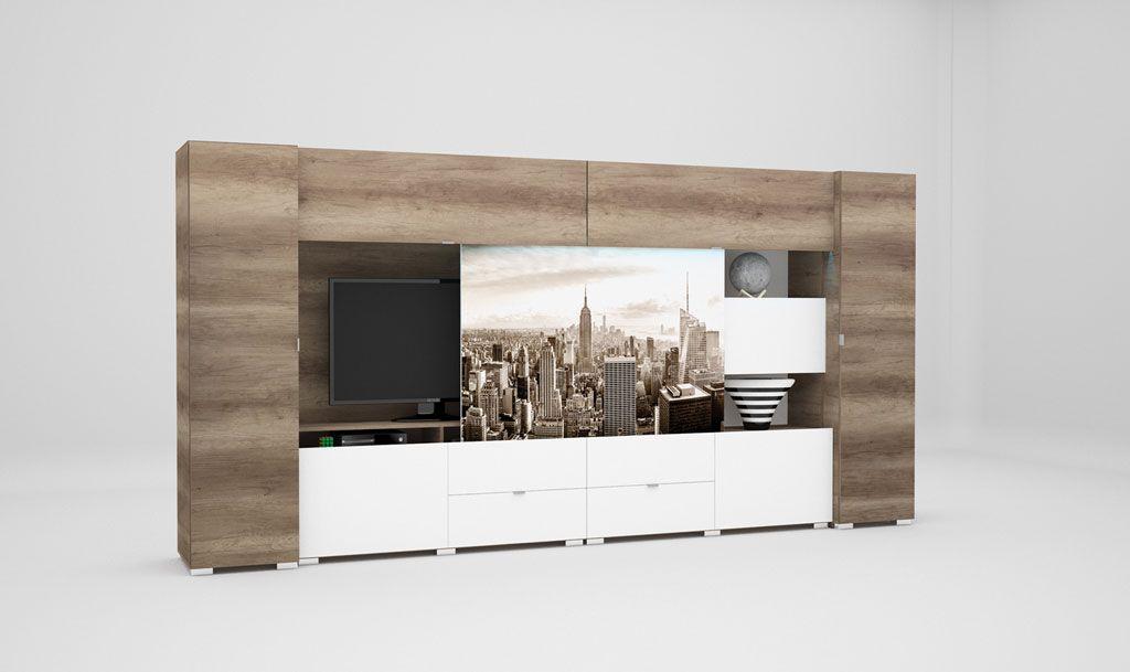 New York 400 nappali szekrénysor